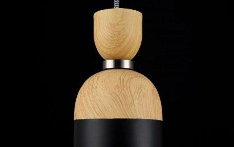 Lampa wisząca - nikiel, orzech, farba tablicowa - Maytoni