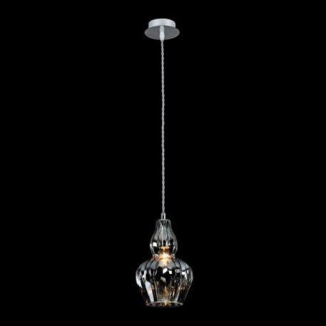 Lampa wisząca - nikiel, szkło - Maytoni