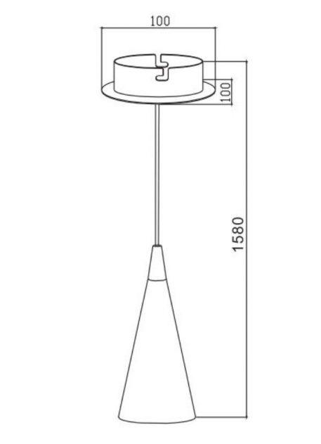 Lampa wisząca - P318PL-01B