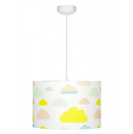 Lampa wisząca Pastelowe chmurki do pokoju dziecięcego