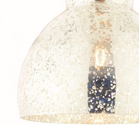 Lampa wisząca - srebrne szkło, polerowany nikiel - Endon
