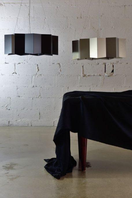 Lampa wisząca - stal w kolorze czarnym - Gie El Home
