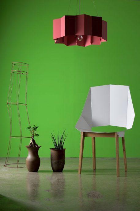 Lampa wisząca - stal w kolorze różowym - Gie El Home