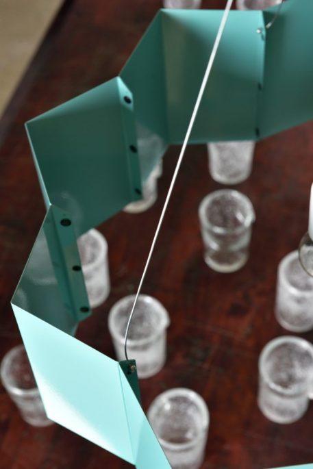 Lampa wisząca - stal w kolorze turkusowym - Gie El Home