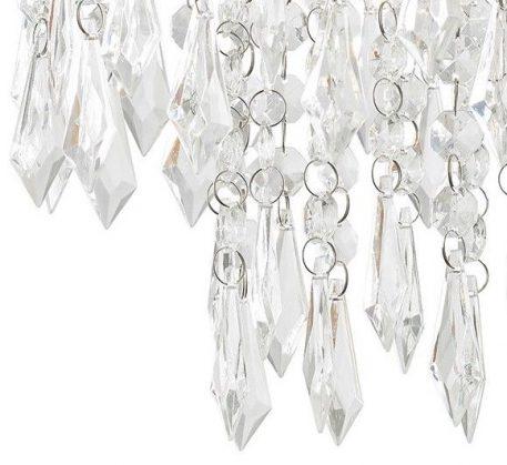 Lampa wisząca Styl glamour srebrny, transparentny  - Salon