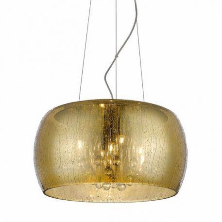 Lampa wisząca Styl glamour złoty  - Salon