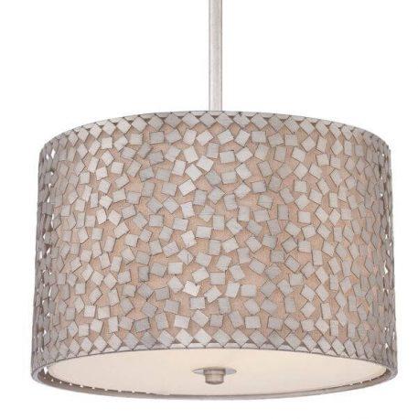 Lampa wisząca Styl modern classic srebrny  - Salon