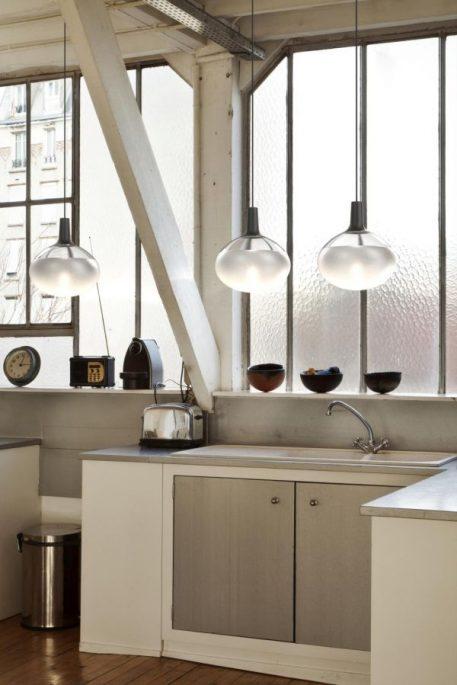 Lampa wisząca - Styl nowoczesny - beżowy -  - Kuchnia