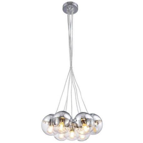 Lampa wisząca Styl nowoczesny beżowy, transparentny, złoty  - Sypialnia