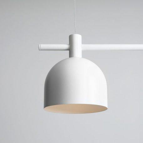 Lampa wisząca Styl nowoczesny biały  - Kuchnia