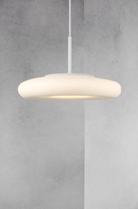 Lampa wisząca Styl nowoczesny biały  - Salon