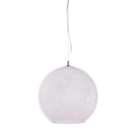 Lampa wisząca Styl nowoczesny biały, srebrny, transparentny  - Sypialnia