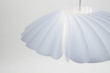 Lampa wisząca Styl nowoczesny biały  - Sypialnia