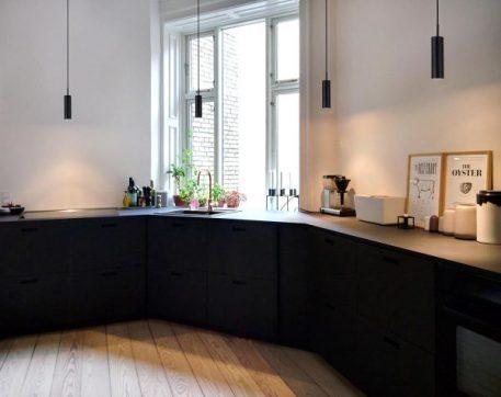 Lampa wisząca - Styl nowoczesny - Czarny -  - Kuchnia