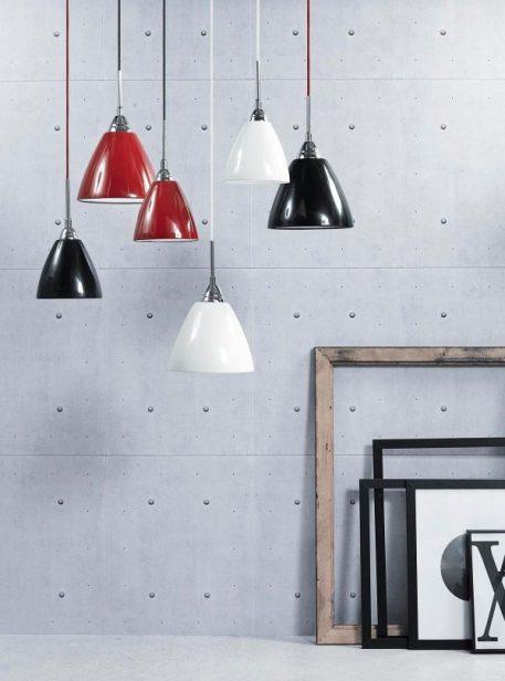 Lampa wisząca Styl nowoczesny Czerwony  - Sypialnia