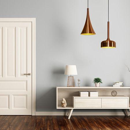 Lampa wisząca Styl nowoczesny miedź, złoty  - Salon