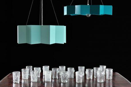Lampa wisząca Styl nowoczesny Niebieski  - Sypialnia