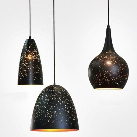 Lampa wisząca - Styl nowoczesny - złoty, Czarny -  - Kuchnia