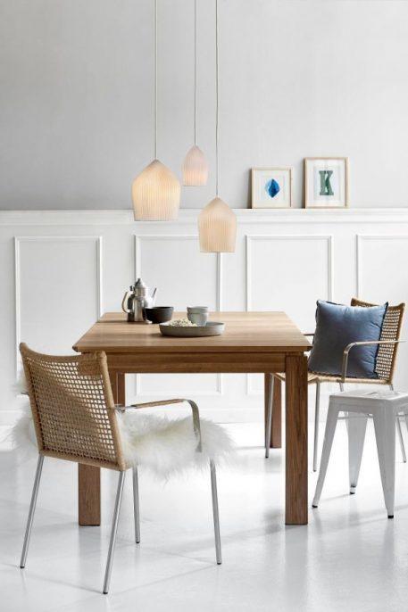 Lampa wisząca Styl skandynawski biały  - Sypialnia