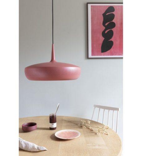 Lampa wisząca - Styl skandynawski - różowy, Czerwony -  - Sypialnia