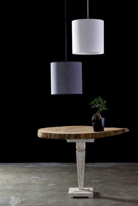 Lampa wisząca - szara tkanina - Gie El Home