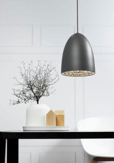Lampa wisząca - szary metal - Nordlux