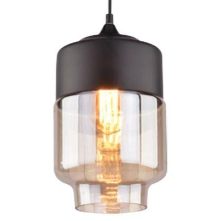 Lampa wisząca szklane beżowy, transparentny, Czarny  - Salon