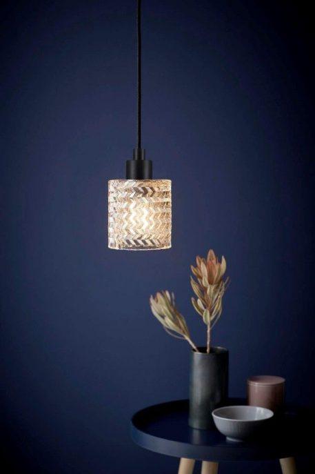Lampa wisząca szklane beżowy, transparentny  - Kuchnia