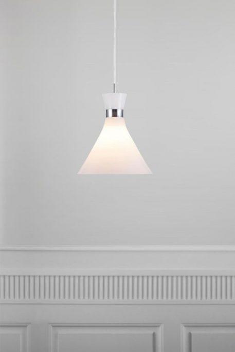 Lampa wisząca szklane biały  - Salon