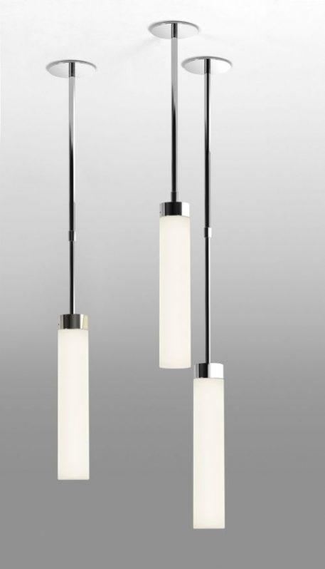 Lampa wisząca szklane biały, srebrny  - Łazienka