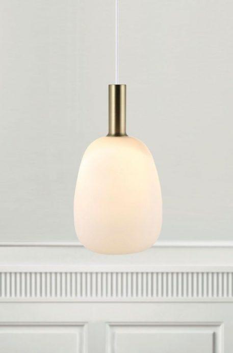 Lampa wisząca szklane biały  - Sypialnia