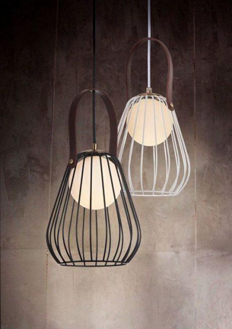Lampa wisząca - szklane - Czarny -  - Sypialnia