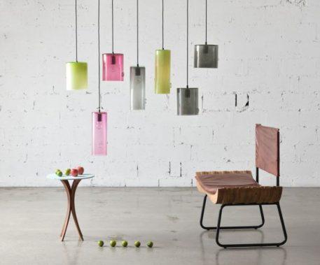 Lampa wisząca szklane transparentny, Szary  - Pokój dziecięcy
