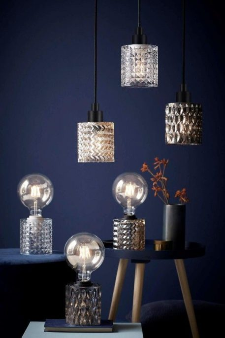Lampa wisząca - szkło barwione na bursztynowy odcień - Nordlux