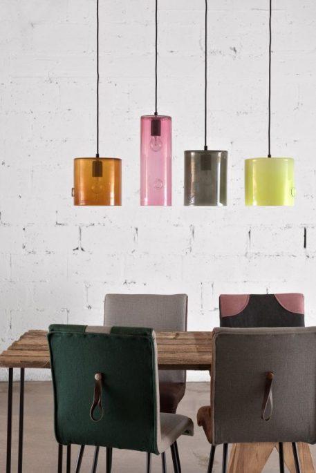 Lampa wisząca - szkło barwione na miodowy odcień - Gie El Home