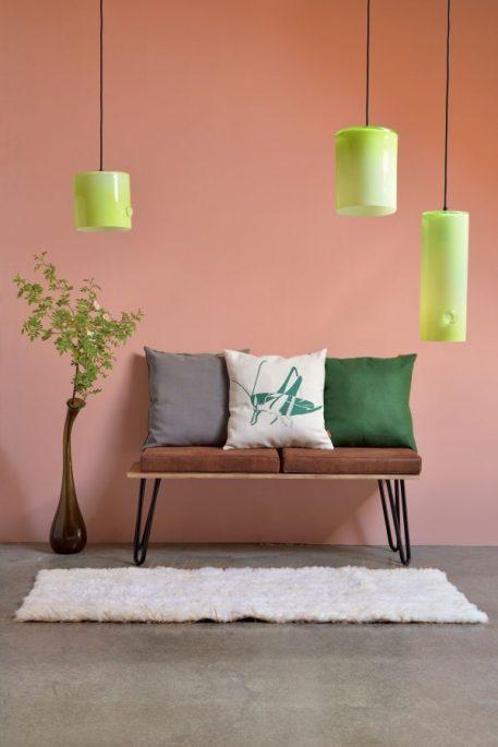 Lampa wisząca - szkło barwione na odcień miodowy - Gie El Home
