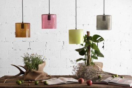 Lampa wisząca - szkło barwione na szaro - Gie El Home