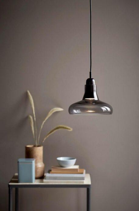 Lampa wisząca - szkło barwione na szaro - Nordlux