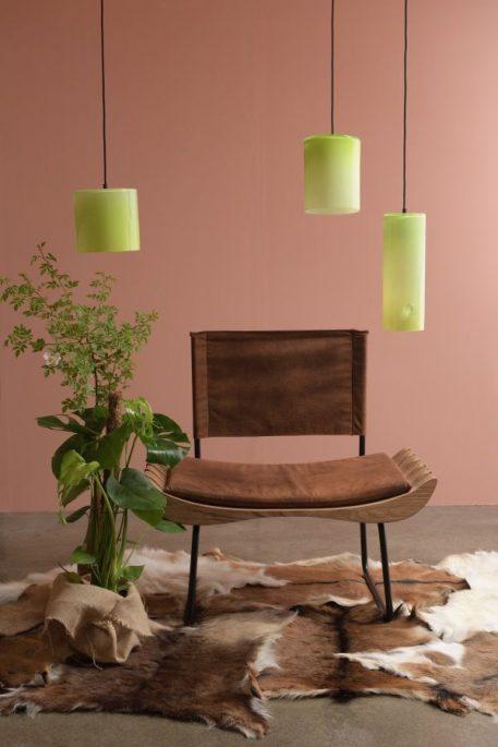 Lampa wisząca - szkło barwione na żółto - Gie El Home