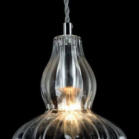 Lampa wisząca - szkło, nikiel - Maytoni