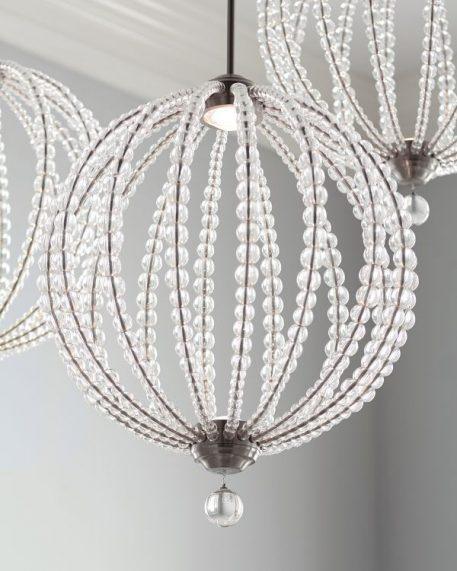 Lampa wisząca - szkło, satynowy nikiel - Ardant Decor