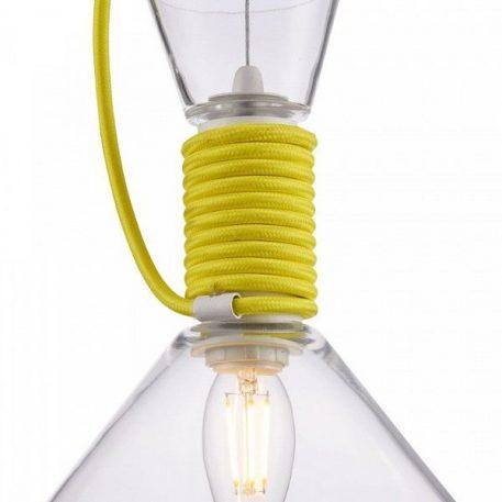 Lampa wisząca - szkło, tekstylny przewód - Maytoni