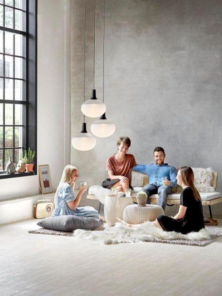 Lampa wisząca - szkło w piaskowym odcieniu - Nordlux