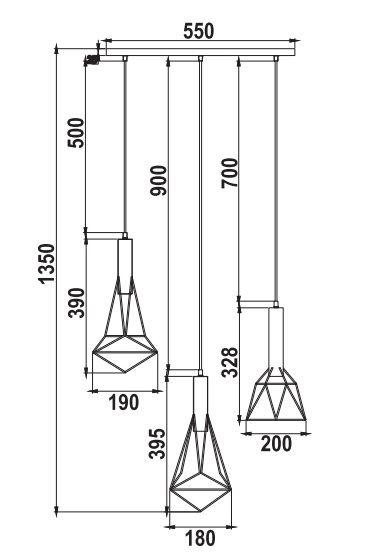 Lampa wisząca - T021-03-B