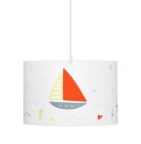Lampa wisząca Z abażurem biały  - Pokój dziecięcy