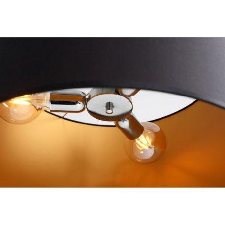 Lampa wisząca Z abażurem złoty, Czarny  - Salon