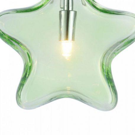 Lampa wisząca - zielone szkło, chrom - Maytoni