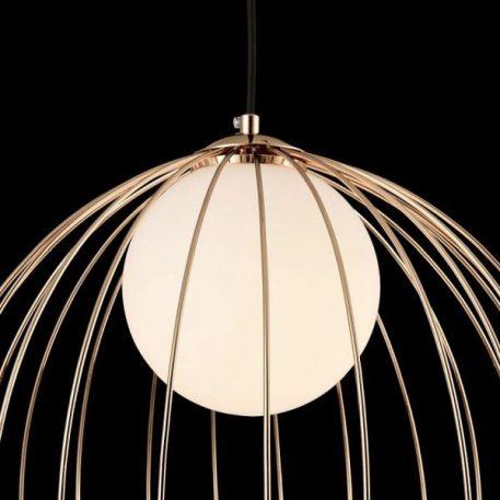 Lampa wisząca - złoty metal, mleczne szkło - Maytoni
