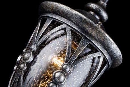 Lampa zewnętrzna - antyczne srebro, szkło - Maytoni