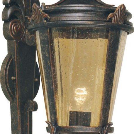 Lampa zewnętrzna - barwione szkło, brązowy, postarzany metal - Ardant Decor